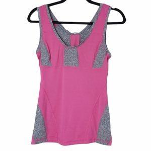 Lululemon Run Recharge Tank Pink Gray 8